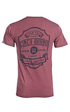 Cinch Men's Heather Red Screen Print Branded S/S T-Shirt