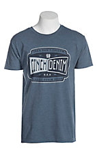 Cinch Men's Heather Navy Jersey Screen Print S/S T-Shirt
