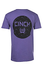 Cinch Men's Heather Purple Screen Print S/S T-Shirt
