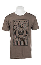 Cinch Men's Heather Brown Branded Graphic S/S T-Shirt