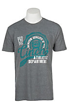 Cinch Men's Grey Athletic Branded Screen Print S/S T-Shirt