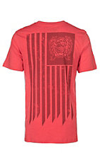 Cinch Men's Red Cinch and American Flag Graphic S/S T-Shirt