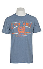 Cinch Men's Heather Blue Branded Screen Print S/S T-Shirt