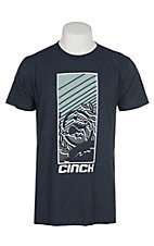 Cinch Men's Navy Branded Screen Print S/S T-Shirt