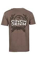 Cinch Men's Heather Brown Branded S/S T-Shirt