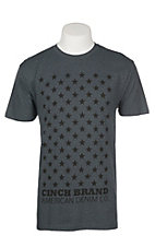 Cinch Men's Heather Charcoal Stars Graphic S/S T-Shirt