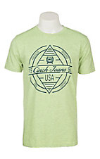 Cinch Men's Green and Navy Branded Graphic S/S T-Shirt