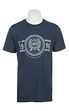 Cinch Men's Navy Blue Logo Short Sleeve T-Shirt