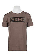 Cinch Men's Heather Logo Short Sleeve Tee