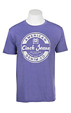Cinch Men's Purple Screen Print Front Logo T-Shirt