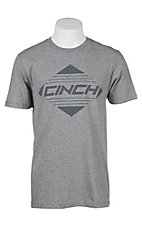 Cinch Men's Heather Charcoal Front Logo T-Shirt
