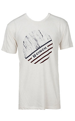 Cinch Men's White Logo Short Sleeve T-Shirt