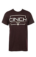 Cinch Men's Burgundy Logo Short Sleeve T-Shirt
