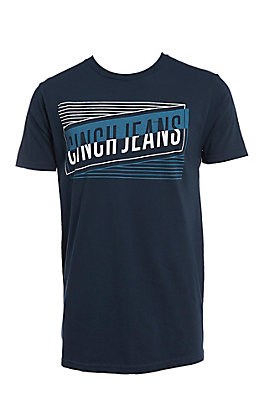Cinch Men's Navy Classic Crew Neck Front Logo Tee