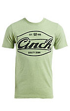 Cinch Men's Heather Green Front Logo T-Shirt