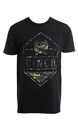 Cinch Men's Black Front Logo Short Sleeve T-Shirt