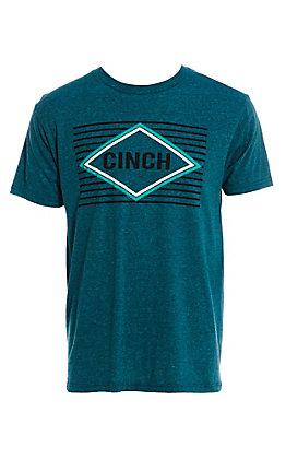 Cinch Men's Heather Teal Classic Logo T-Shirt