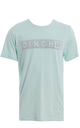 Cinch Men's Mint logo Graphic Short Sleeve T-Shirt