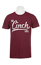 Cinch Men's Maroon Logo Short Sleeve T-Shirt