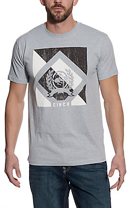 Cinch Men's Grey Short Sleeve T-Shirt