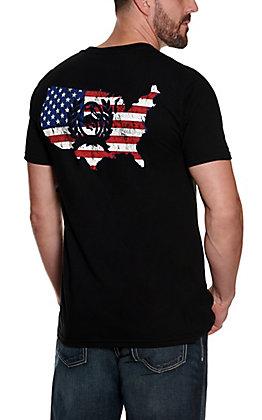 Cinch Men's Black Americana Short Sleeve T-Shirt