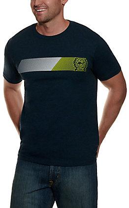 Cinch Men's Heather Navy Short Sleeve T-Shirt