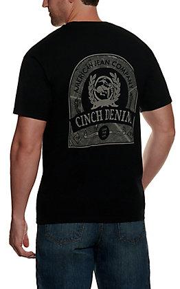 Cinch Men's Black Short Sleeve Back Logo T-Shirt