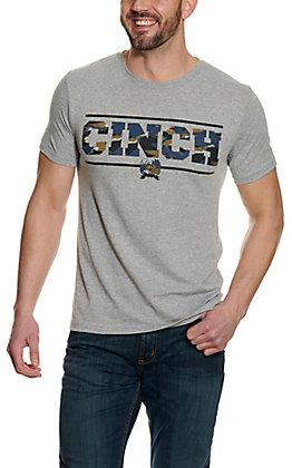 Cinch Men's Heather Grey Logo T-Shirt