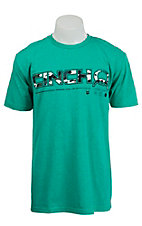 Cinch Men's Green with Camo Logo Short Sleeve Tee MTT1694029GR