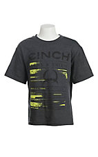 Cinch Kid's Charcoal Grey Logo Tee