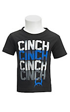 Cinch Infant Black with Screen Print Logo on Front Short Sleeve T-Shirt