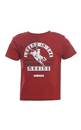 Cinch Boys' Toddlers Red Bull Rider Short Sleeve Tee