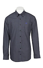 Cinch Men's Black Plaid Print Long Sleeve Western Shirt