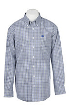 Cinch Men's Purple and White Checkered Western Shirt