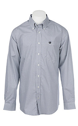 Cinch Men's Purple and Grey Print Western Shirt