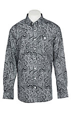 Cinch Men's Black Paisley Long Sleeve Western Shirt