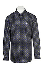 Cinch Men's Black and Purple Medallion Print Western Button Down Shirt