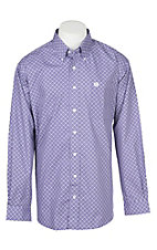 Cinch Men's Purple Wallpaper Print Western Button Down Shirt