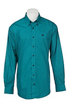 Cinch Men's Teal Medallion Print Long Sleeve Western Shirt