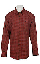 Cinch Men's Red Medallion Print Long Sleeve Western Shirt
