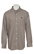 Cinch Men's Brown Print Long Sleeve Western Shirt