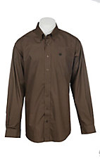 Cinch Men's Brown Circle Pattern Long Sleeve Western Shirt