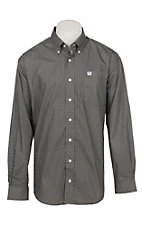 Cinch Men's Brown and Black Geo Print Long Sleeve Western Shirt