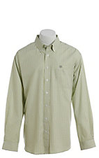 Cinch Men's Navy White Tencel Plaid Western Button Down Shirt