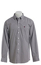 Cinch Men's White Overstripe Western Button Down Shirt