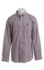 Cinch Men's Aztec Geo Print Western Long Sleeve Button Down Shirt