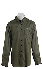 Cinch Men's Black Diamond Geo Print Western Long Sleeve Button Down Shirt