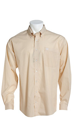 Cinch Men's Khaki Geo Print Long Sleeve Western Shirt