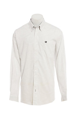 Cinch Men's White Paisley Long Sleeve Western Shirt