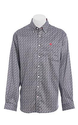 Cinch Men's Black Paisley Long Sleeve Western Shirt